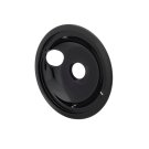 Smart Choice 8'' Black Porcelain Drip Bowl Product Image