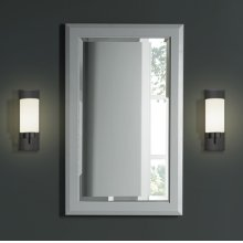 "Charlottesville 20"" Mirror - Light Gray"