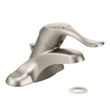 M-BITION classic brushed nickel one-handle lavatory faucet