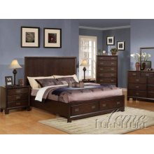 Capuccino Finish Queen Size Bedroom Set