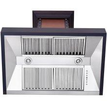 """ZLINE 36"""" Designer Series Copper Finish Wall Range Hood (655-CBBBB-36)"""