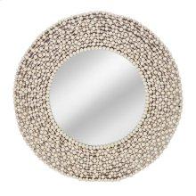 Siena Wood Bead Mirror