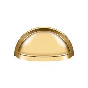"""Oval Shell Handle Pull 3 1/2"""" - PVD Polished Brass Product Image"""