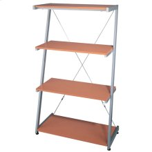 "4-tier Shelf, Silver/beech, 30""WX14.5""DX51""H"