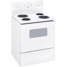 "MCBS523DNWW - White Moffat Moffat 30"" Free Standing Electric Standard Clean Range"