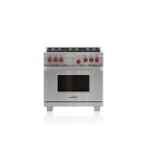 "36"" Dual Fuel Range - 6 Burners Product Image"