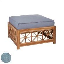 Teak Lattice Square Ottoman Cushion