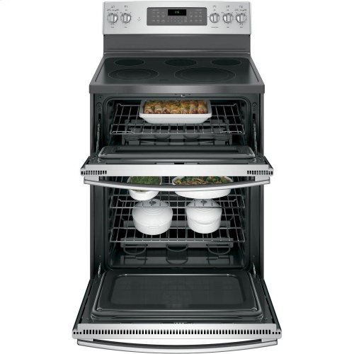 """GE® 30"""" Free-Standing Electric Double Oven Convection Range"""