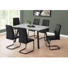 "DINING CHAIR - 2PCS / 39""H / BLACK LEATHER-LOOK / METAL Product Image"