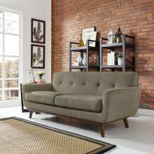 Engage Upholstered Fabric Loveseat in Oatmeal