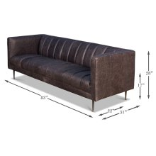 Lexington Sofa, Nottinghill Grey Leather