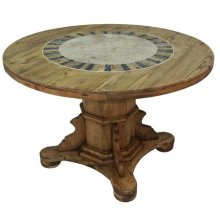"48"" Round Ped Table W/Stone"