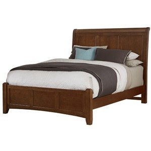 Queen Cherry Sleigh Bed