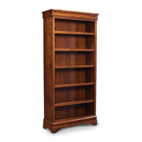 Louis Philippe Open Bookcase, Louis Philippe Open Bookcase, 4-Adjustable Shelves