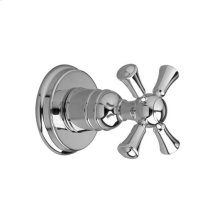 4/3 or 3/2 Port Diverter Valve Trim Only- Cross Handle - Polished Chrome