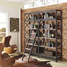 Headway Wood Bookshelf in Brown