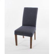 Straight top wood leg chair
