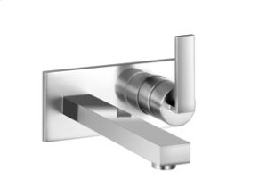 Single lever mixer with cover plate - chrome Product Image