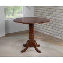 DLU-ADW4242CB-CT  Round Drop Leaf Pub Table  Chestnut