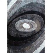 105 Black Gray Rug Product Image