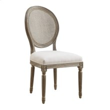 2-pack Rta Side Chair-sand Gray Finish Wuph Seat-cream & Back-rattan