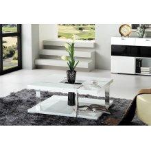 Modrest Glacier Modern White Coffee Table
