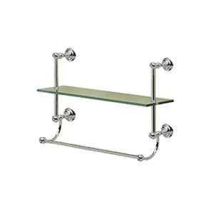 Kingston Single Tier Shelf With Towel Bar Product Image