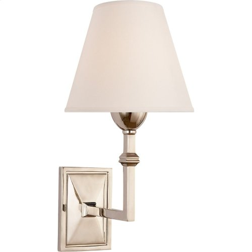 Visual Comfort AH2305PN-NP Alexa Hampton Jane 1 Light 7 inch Polished Nickel Sconce Wall Light, Alexa Hampton, Natural Paper Shade