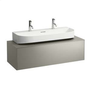 Gold & Nero Marquina Drawer element, 1 drawer, matching washbasin undersurface ground 816347, centre cut-out Product Image