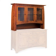 "Aspen Open Hutch Top, 64 1/2"", Antique Glass"