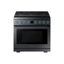 """5.9 cu. ft. 36"""" Chef Collection Professional Gas Range in Black Stainless Steel"""