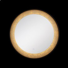 ROUND EDGE-LIT LED MIRROR - Black