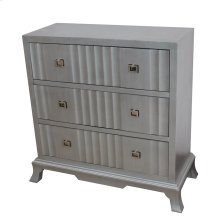 Elysse 3 Shaped Drawer Antique Silver Chest