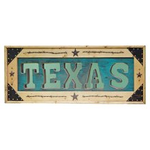 Turquoise Texas Letter Mirror