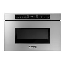 """Modernist 24"""" Microwave-In-A-Drawer, Silver Stainless Steel"""