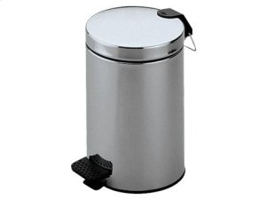 Waste bin - chrome-finish (polished stainless steel) Product Image
