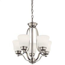 Langford 5 Light Mini Chandelier Brushed Nickel
