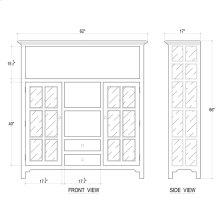 Aries Kitchen Cupboard 2 Drawer