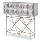 Snowflake Console Table - Silver Leaf Product Image