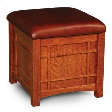 Prairie Mission Storage Cube, Leather Cushion Seat