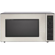 Well-designed full size microwave combines stunning appearance with smart timesaving features that eliminate cooking and programming guesswork.  The new glass window adds to the look and feel of quality. Also available in Black: R-530EK and White: R-530EW .
