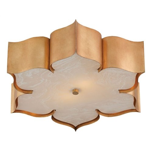 Grand Lotus Gold Flush Mount