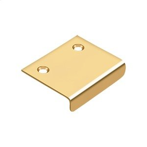 "Drawer, Cabinet, Mirror Pull, 2""x 1-1/2"" - PVD Polished Brass Product Image"