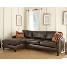"""Anguilla Left Arm Chaise, 37""""x 64""""x36"""" w/one Accent Pillows"""