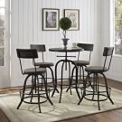 Gather 5 Piece Dining Set in Black Product Image