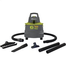 Wet/Dry Vacuum Cleaner with 6-Gallon Tank