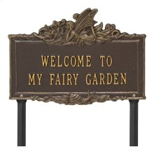 Welcome to My Fairy Garden Lawn Plaque - Bronze/Gold
