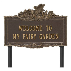 Welcome to My Fairy Garden Lawn Plaque - Bronze/Gold Product Image