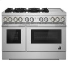 """RISE 48"""" Dual-Fuel Professional Range with Chrome-Infused Griddle Product Image"""