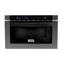 "ZLINE 24"" 1.2 cu. ft. Microwave Drawer in Black Stainless Steel (MWD-1-BS)"